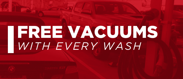 Free Vacuums with Every Wash